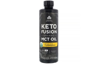Dr. Axe / Ancient Nutrition Keto Fusion Organic MCT Oil Infused with Turmeric 473ml