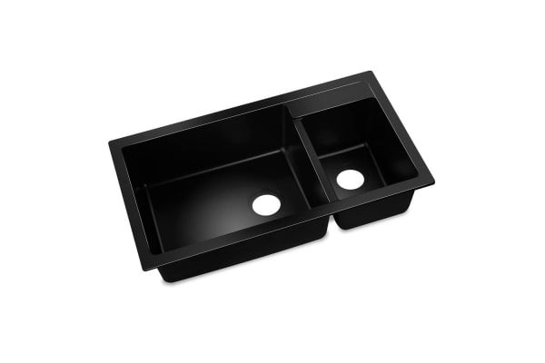 Stone Kitchen Double Sink (Black) 860 x 500