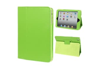 For iPad Mini 1 2 3 Case  Lychee Texture 2-fold Folio Leather Cover Green