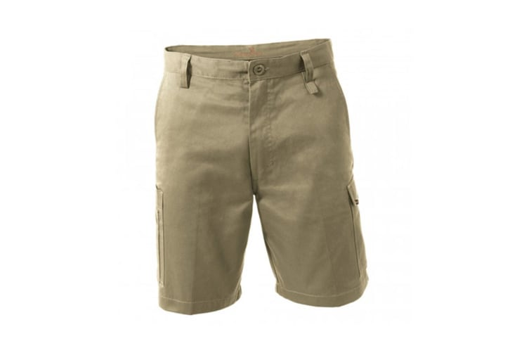 King Gee New G's Workcool Shorts (Khaki, Size 97R)