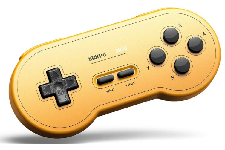 8Bitdo SN30 Wireless Bluetooth Gamepad - GP Yellow Edition