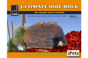 URS Reptile Small Ultimate Hide Rock Decoration for Snakes, Lizards (21x16x10cm)