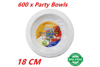 Disposable Plastic Bowls Plates 180mm Round White Bowl Plate Party Occasions