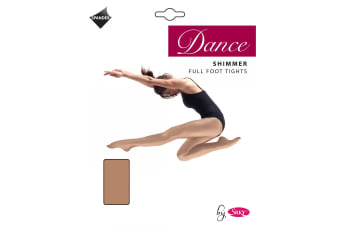 Silky Girls Dance Shimmer Full Foot Tights (1 Pair) (Toast)