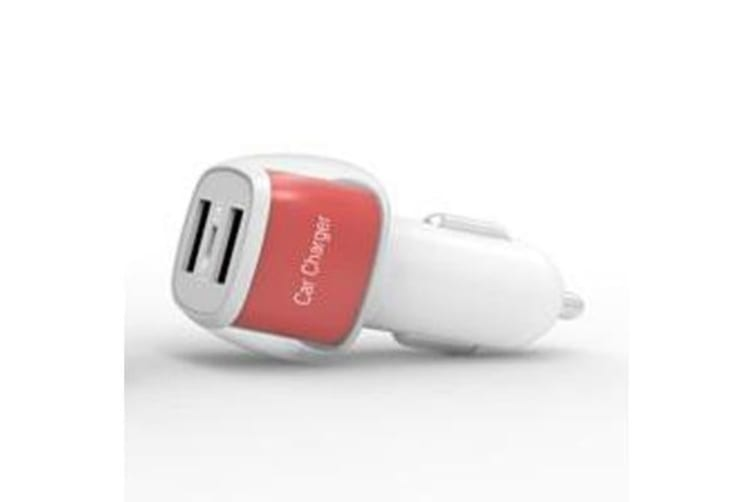 2X Input Usb Car Charger For Ipad Iphone 12-24V Dc Socket 5V 3.1A Yzd01 Red