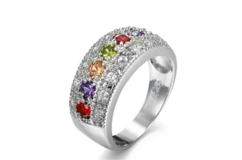 women Cubic Zirconia  Pave Band Ring