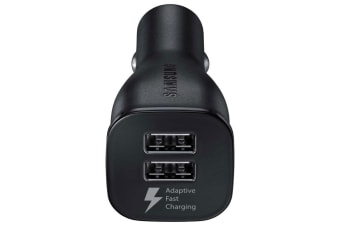 Samsung Micro USB 5V/9V Fast Charge Dual Port Car Charger Black