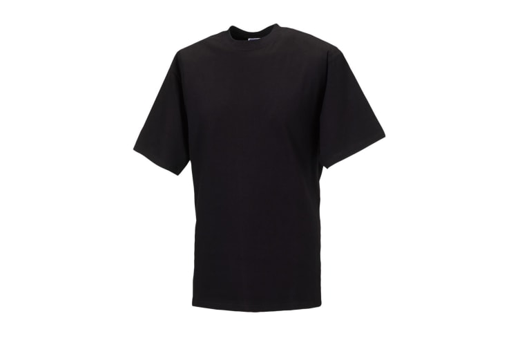 Jerzees Colours Mens Classic Short Sleeve T-Shirt (Black) (L)