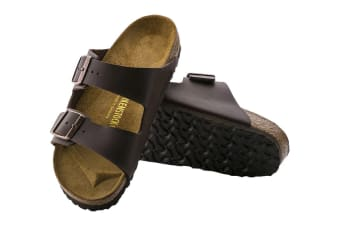Birkenstock Arizona Birko-Flor Sandal (Dark Brown, Size 42 EU)