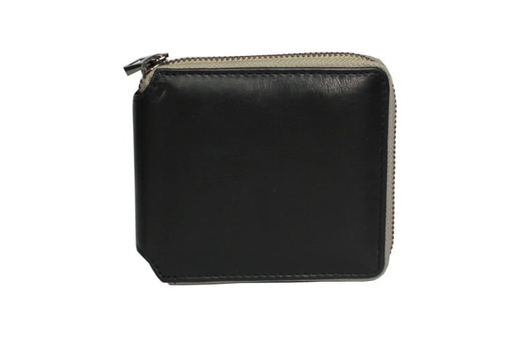 Eastern Counties Leather Unisex Billie Leather Zip Around Wallet (Black/Grey) (One size)