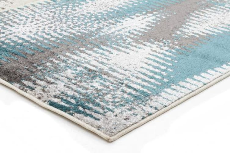 Hannah Matrix Rug Blue Grey 290x200cm
