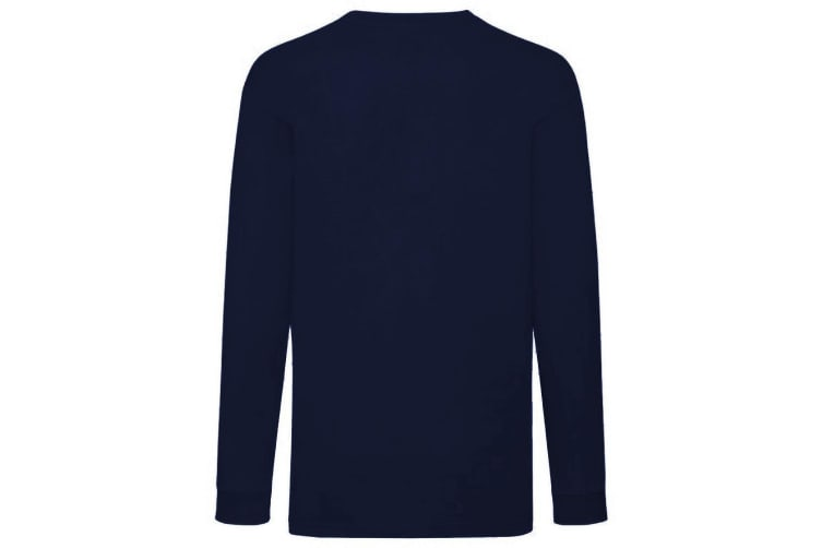 Fruit Of The Loom Childrens/Kids Long Sleeve T-Shirt (Pack of 2) (Deep Navy) (12-13)