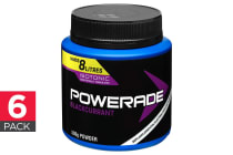 6-Pack Powerade Isotonic Powder - Blackcurrant (6 x 500g)