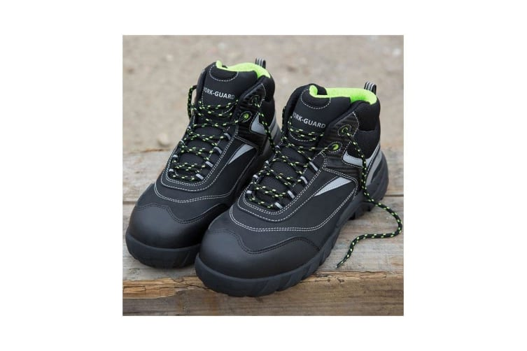 Result Workguard Mens Blackwatch Lace-Up Safety Boots (Black/Silver) (6 UK)