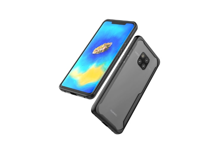 Ultra Slim Clear Crystal Shockproof Flexible Soft Back Case Cover For Huawei Black Huawei Mate20Pro