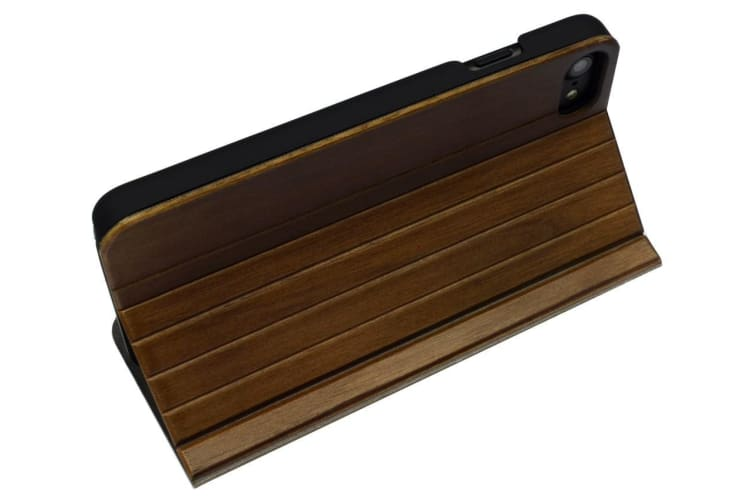 For iPhone 8 7 Case Smooth Natural Walnut Planks Wooden Durable Protective Cover