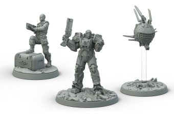 Fallout Wasteland Warfare Brotherhood of Steel Knight-Captain Cade  Paladin Danse