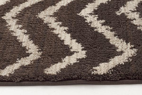 Morrocan Chevron Design Rug Brown Beige 230x160cm