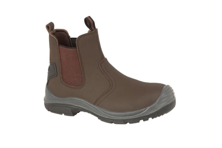 Grafters Steel Toe Safety Dealer Boots (Brown) (12 UK)