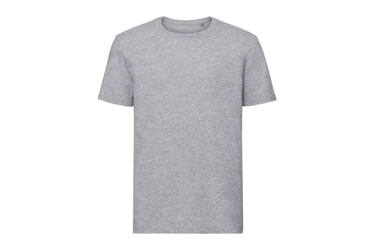 Russell Mens Authentic Pure Organic T-Shirt (Light Oxford Grey) (M)