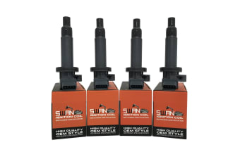 Pack of 4 - SWAN Ignition Coil for Daihatsu Sirion (M3) 1.0L