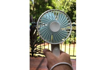 Sansai Rechargeable Handheld Fan Connect to USB port of various devices