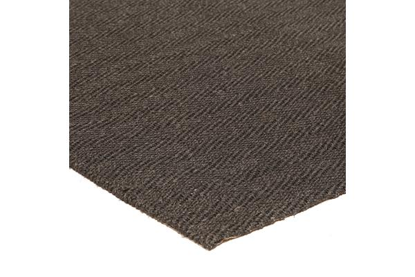 Natural Sisal Rug Herring Bone Charcoal 220x150cm