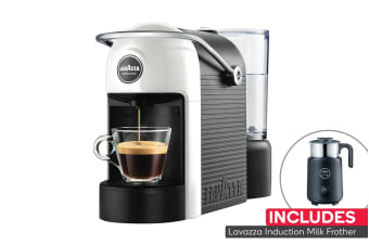 Lavazza Jolie Espresso Coffee Machine with Milk Frother & Bonus Capsules (White/Black)