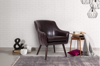 Shangri-La Thomsen Lounge Chair (Dark Brown)