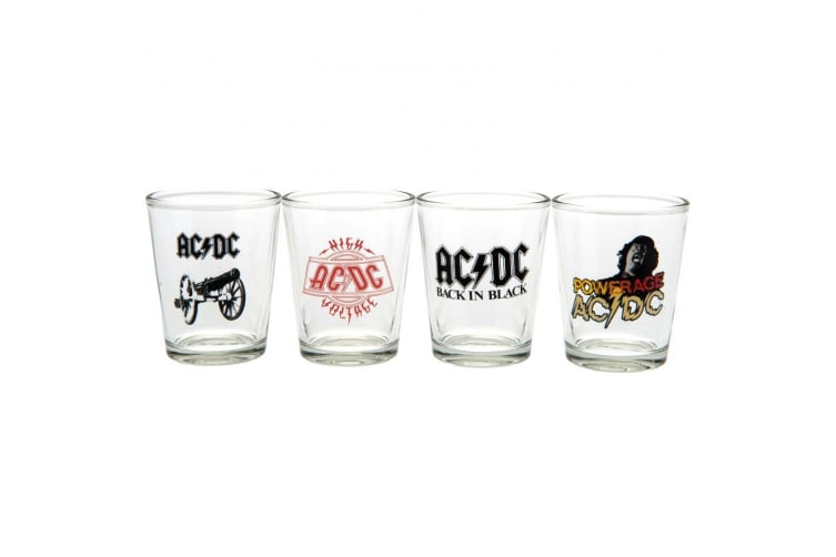 AC/DC Shot Glass Set (Pack Of 4) (Multi-colour) (One Size)