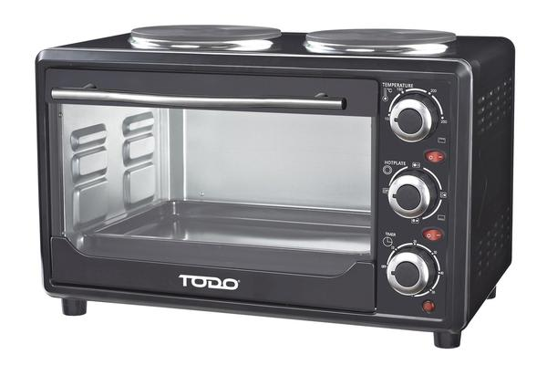 TODO 23L Benchtop Electric Oven Two Hot Plates Hotplate 10A Amp
