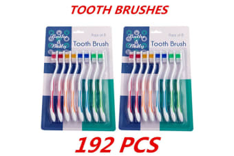 192 x Adult Kids Children's Toothbrush Tooth Brush Oral Dental Care Hygiene Teeth Care