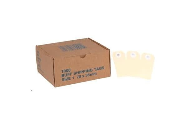 Globe Manilla Tags No.1 70 x 35mm Box 1000