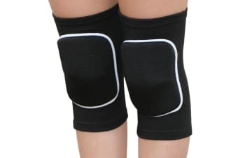 Select Mall Children's Sports Dance Knee Protector with Thickened Sponge Protector Sports Knee Pads-Black XS