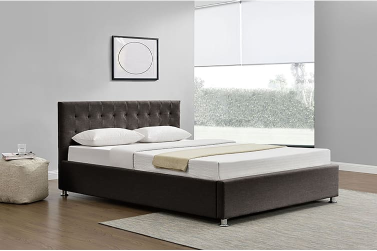 King Bed Frame | Fabric | Harlo Brown
