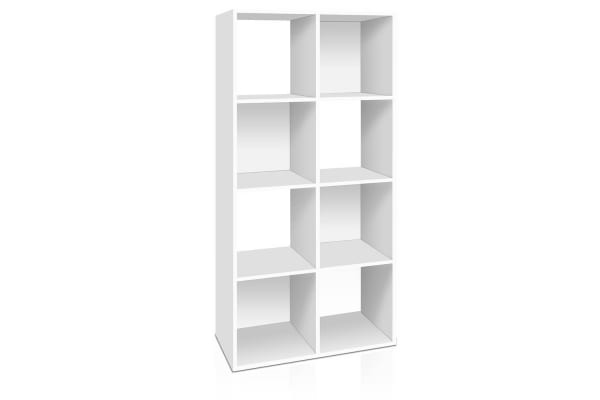 8-cube Display Storage Shelf (White)