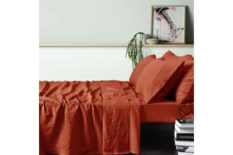 100% Linen Tobacco Sheet Set SINGLE