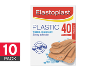 400 Elastoplast Plastic Strips - Assorted (40 x 10 Pack)