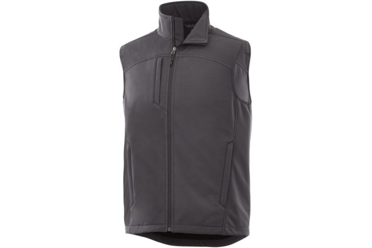 Elevate Mens Stinson Softshell Bodywarmer (Storm Grey) (XL)