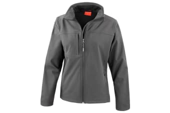 Result Womens Softshell Premium 3 Layer Performance Jacket (Waterproof  Windproof & Breathable) (Grey) (2XL)