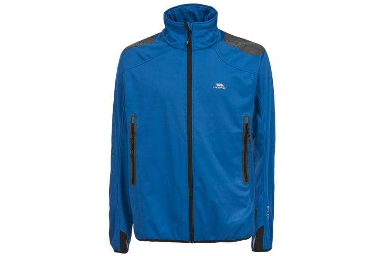 Trespass Mens Expansion Waterproof Full Zip Softshell Jacket (Electric Blue) (M)