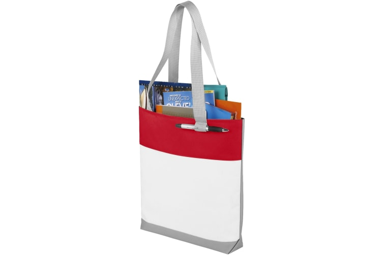 Bullet Bloomington Convention Tote (White/Red) (35.5 x 7.6 x 40.6 cm)