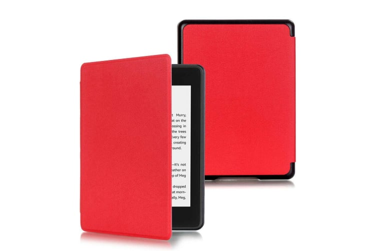 Magnetic Cover Protective Shell Smart Case For All-new Kindle 10th Gen 2019-Brown-Red