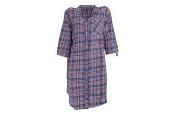 Follow That Dream Womens/Ladies Yarn Dyed Check Night Shirt (Pink Check)