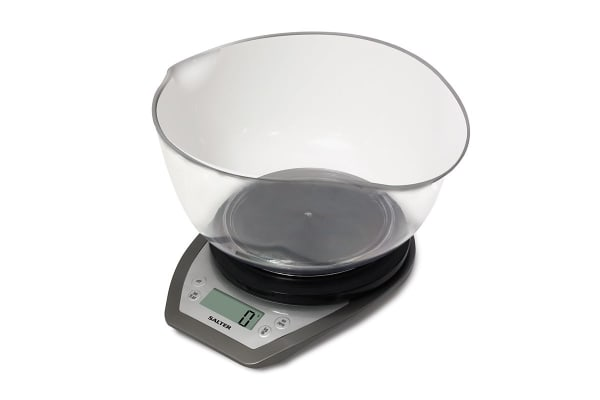 Salter Aquatronic Kitchen Scale And Bowl White