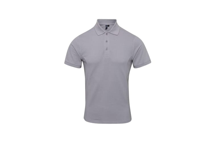 Premier Mens Coolchecker Plus Pique Polo With CoolPlus (Silver) (L)