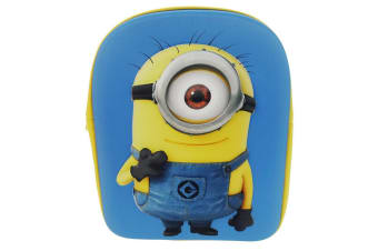 Despicable Me Childrens/Kids 3D Minion Backpack (Blue/Yellow)
