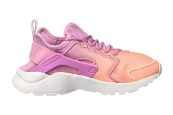 Nike Women's Air Huarache Run Ultra BR Running Shoe (Orchid/Sunset Glow/White, Size 8)