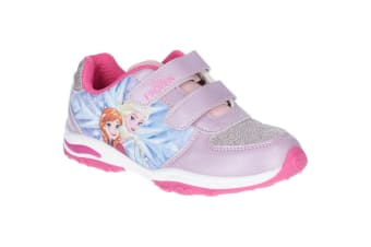 Leomil Frozen Girls Elsa And Anna Lights-Up Trainer (Dark Pink) (11.5 Child UK)