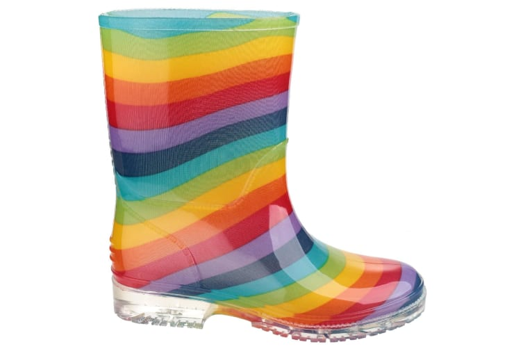 Cotswold PVC Kids Rainbow Welly / Girls Boots (Multi) (28 EUR)